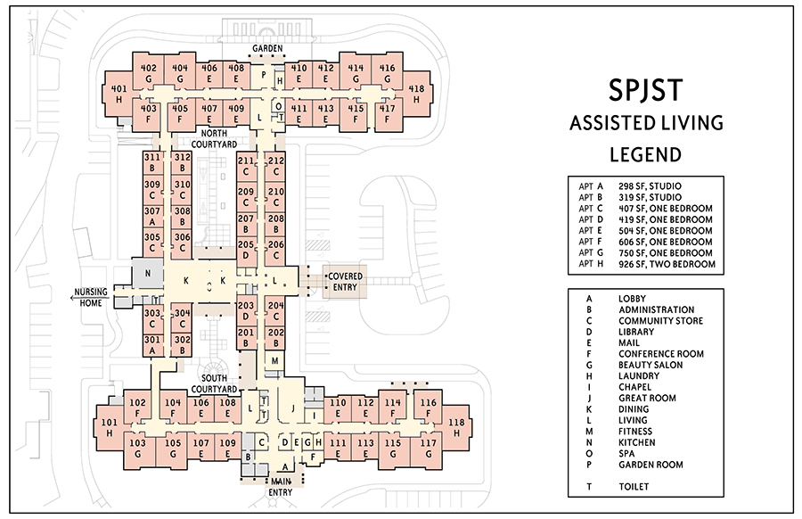 S.P.J.S.T. Assisted Living Floorplan Model